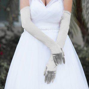 Dressy Satin Long Wedding Gloves
